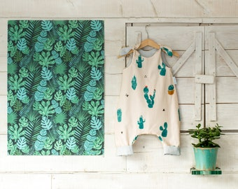 Baby Romper 9-18 months - Cactus Print - Isla Handmade