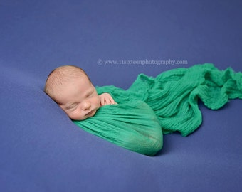 Emerald Green Cheesecloth Wrap Cheese Cloth Newborn Photography