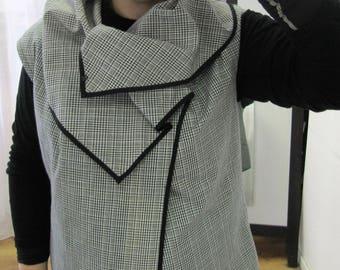 Plus size fashion,Plus size vest,Cotton vest Women vest Vest with pockets Ready to ship vest Hand made vest Vest with pockets