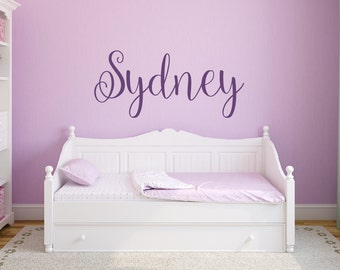 Wall Decal Removable Girls Nursery Wall Decal - Nursery Decor Girls Name Wall Decal - Personalized Name Decal - Vinyl Wall Decal Unique Gift