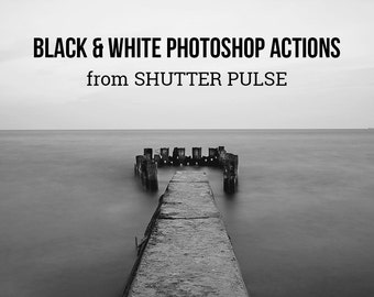 Black & White Photoshop Actions - Adobe Photoshop Actions