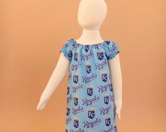 Kansas City KC Royals Peasant Dress - Baby Toddler Girl