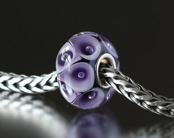 Bubbles lamp work glass bead 4-9