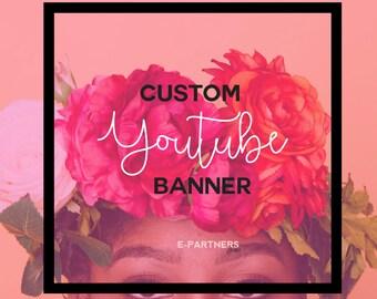 CUSTOM Marble Youtube Banner | Youtube Header | Youtube Cover | Youtube Branding - Social Media Branding