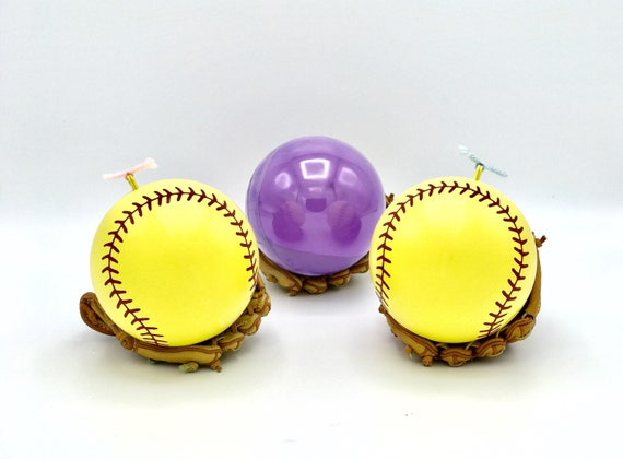 SOFTBALL 2x Powder of Baseball Gender Reveal Balls Pack (Custom Color Combinations and Styles) Gender Reveal Softball