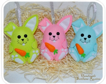 Easter Bunny In gift box Cute felt Easter decoration Bunny Easter ornament Easter decor Cute Easter Felt bunny Felt rabbit Easter gift