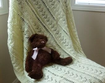 Ivory Knit Blanket