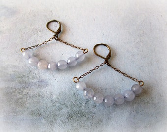 Agate Gemstone Dangle Earrings