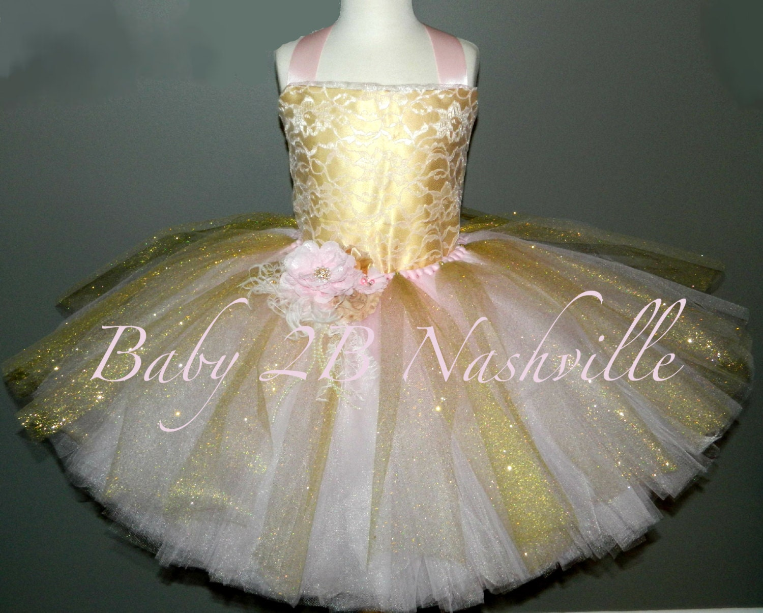 Pink lace dress and gold satin flower girl dress pink and gold zoom mightylinksfo Gallery