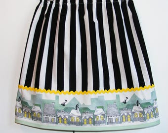 Mary Poppins Lovers  border print skirt   ( 2T, 3T, 4T, 5, 6, 7, 8, 10)