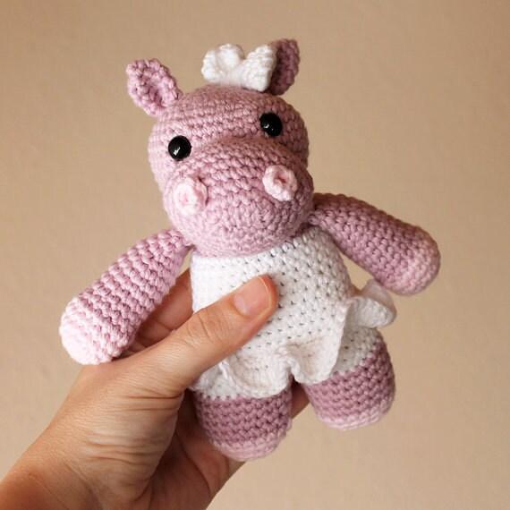 Hippo - Animalius. Crochet Doll, Amigurumi Toy, Crocheting, Made to Order, Animal Crochet, Cute Children Gift, Nursery Doll, DIY, Art Crafts