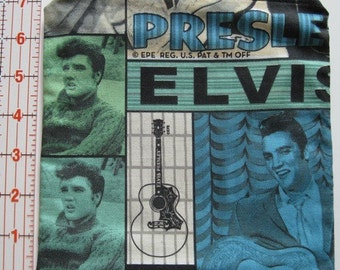 Lined Cosmetic Zipper Pouch - Elvis Presley