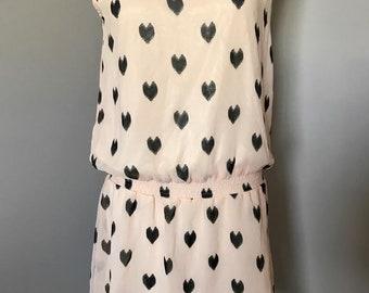 Asian vintage drop waisted dual-fabric dress