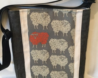 Count Those Sheep Cross Body Bag Tote