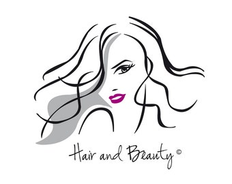 Hair and beauty logo ideal for a small business.