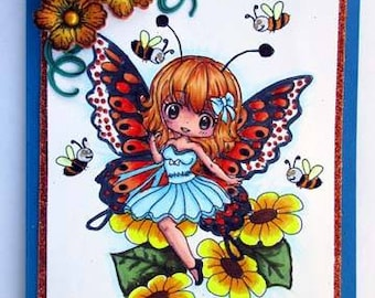Flutterby Fairy - Digital Stamp