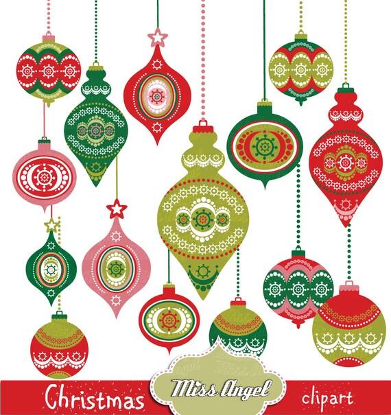 Christmas Decorations Clip Art Balls Clipart