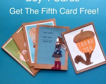 Buy Four Cards Get The Fifth Free!
