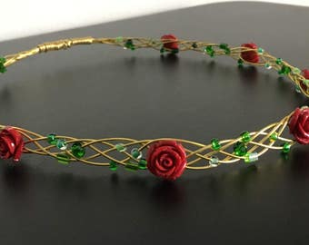 Beauty and the Beast Enchanted Rose Crown
