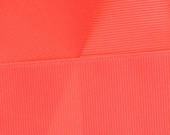 Coral Grosgrain Ribbon Solid- Choose Width / Length