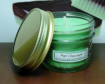 Mint Chocolate PURE SOY 4 oz. Mason Jar Candle