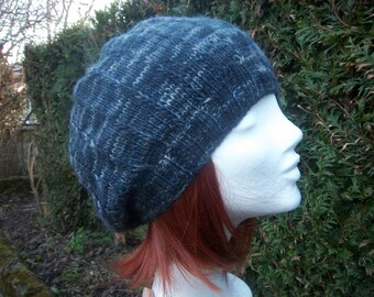 Hand dyed natural wool beret