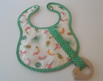 Bib with pacifier or toy