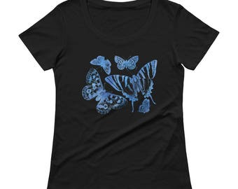 Butterflies Tshirt - Butterfly T Shirt - Womens T Shirt - Gift For Her