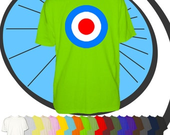 Mens Mod Target T Shirt - 1960's Sixties Sub Culture Scooter Scene Tshirt - Band Music Inspired Tee - Party Night Out T-shirt - Man Gift