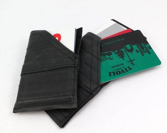 Save on 2 pieces Credit card wallets/holder single. Recycled vegan rubber innertube