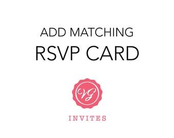 Add Matching RSVP Card