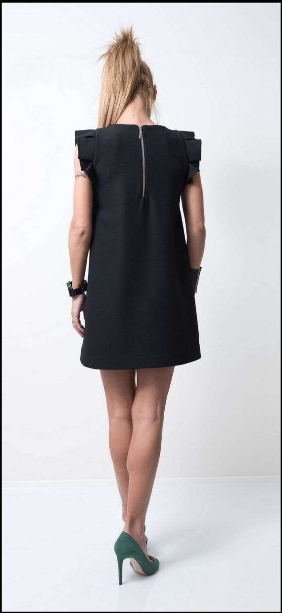 Size Plus Dress Wedding Dress Dress Guest Oversize Tunic Dress Little Black Dress Clothing Dress Black Cocktail Midi Dress xawZSnUq
