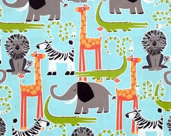 Gender Neutral Minky Blanket - Jungle Animals - Jungle Baby Blanket - Jungle Nursery - 100% Cotton  - Gift Wrapped - Personalize Blanket