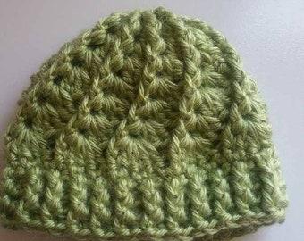 Crochet Baby Hat: Green