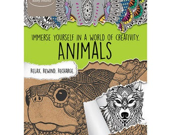 Adult coloring book Kathy Ireland Animals