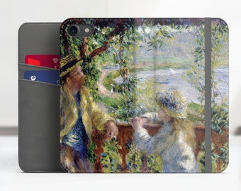 """Renoir """"By the Water"""" Art iPhone 8 folio case Samsung Galaxy S7 folio case iPhone X folio Phone case for iPhone, Samsung. WC-PAR-03"""
