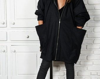 Wool Coat, Winter Cape, Black Wool Coat, Plus Size Winter Coat, Oversized Coat, Poncho Coat, Hooded Cape, Black Wool Cape, Boho Coat