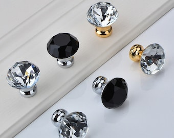 Crystal Knob Glass Knobs European Drawer Knobs Pull Handle Dresser Knobs Pull Handle Furniture Hardware