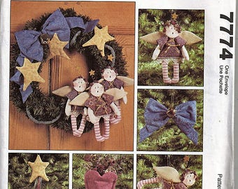 A Guardian Angel Christmas / Original McCall's Crafts Uncut Sewing Pattern 7774