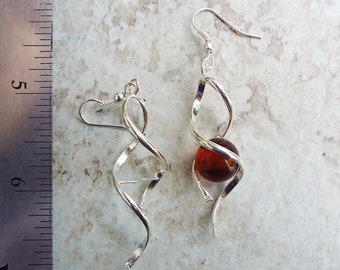 Double Twist Twist Add a Bead Twist Earrings with holes for dangles -- one pair