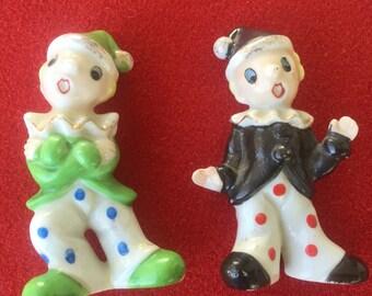 Vintage clown figurines Japan