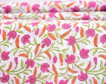 By Yards Hand Block Print Fabric, Indian Cotton Fabric, Printed Cotton Fabric, Cotton Printed Fabric, Printed Fabric, Block Print Fabric
