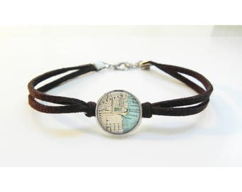 Custom Map Bracelet - Any Map as a Bracelet - Custom Jewelry - Personalized Jewelry - Map Jewelry