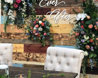 Happily Ever After Sign, Wedding Sign, Backdrop Sign, Rustic Sign, Modern Wedding, Laser Cut Sign, Wood Sign, Ngo Creations