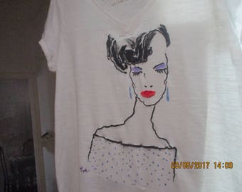 Hand-painted Top, Tank, T-Shirt, for Her, Street Trend, Beachwear, Women's Clothing, Tops & Tees, For Her