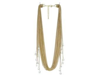 Rhinestone Sway Necklace - Gold