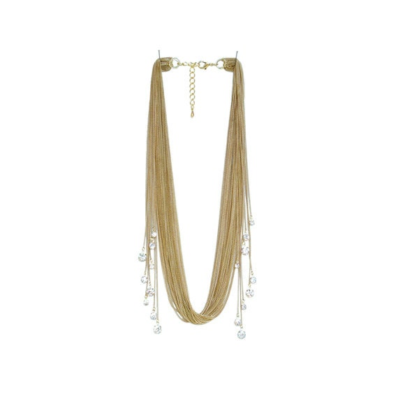 Rhinestone Sway Necklace - Gold