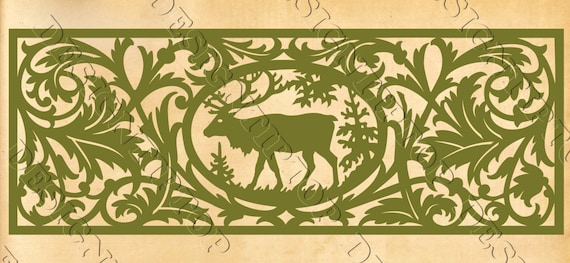 Deer SVG, silhouette deer, stencil for scroll saw, DIY, gift idea ...