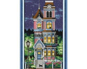 A Quiet Night Counted Chinese Cross Stitch 11CT 14CT Handmade Cross Stitch Set scenery Cross-stitch Kits Embroidery Needlework