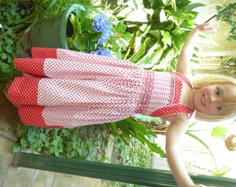 Red and White Polka Dot Sundress (size 4)